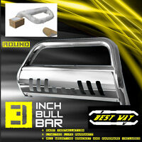 Bull Bar W/skid Plate Push Grille Guards Fit 2005-2015 Toyota Tacoma