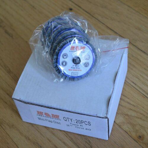 "20PCS 3/"" MINI FLPA DISC 120 GRIT SANDING GRINDING ROLOC QUICK CHANGE TYPE R"