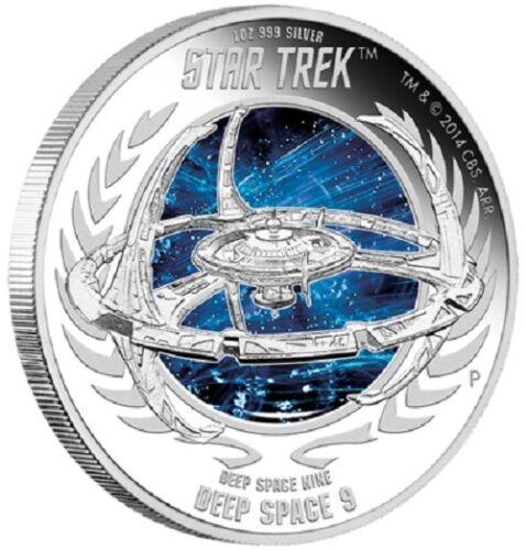 Deep Space Nine 1oz Silver Proof Coin Perth Mint 2015 Star Trek Coin Series