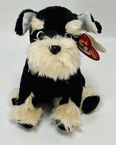 """TY Beanie Pretzels Schnauzer Dog 6"""" DOB:10/19/2004 New W/tag 2004"""
