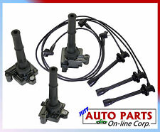 SPARK PLUG WIRES + 3 IGNITION COILS TOYOTA 4RUNNER 96-02 V6 3.4L TUNDRA 00-2004