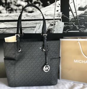 Image Is Loading New Michael Kors Purse Handbag Mk Jet Set