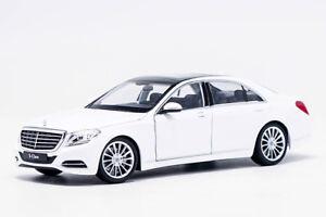 Welly-1-24-Mercedes-Benz-Classe-S-S500-Bianco-Auto-Modello-Diecast-Nuovo-in-Scatola