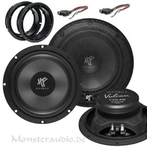 Hifonics-Lautsprecher-Set-Kicker-Bass-VW-Bora-Golf-4-Jetta-Passat-3BG-B5-Polo-9N