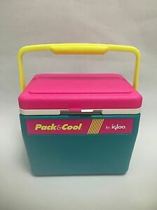 Vintage 1980s pack cool igloo cooler ice chest neon - Igloo vintage ...
