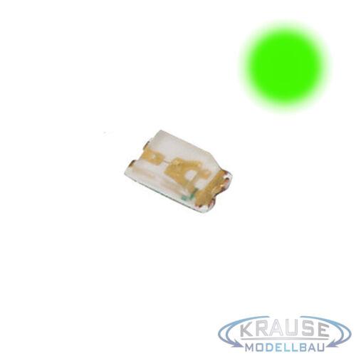 KM0083 10 Stück SMD LED 0603 grüngelb mit Kupferlackdraht 0,15mm Modellbahn