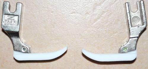 1  Nähmaschinenfuß für Reißverschlüsse in Leder