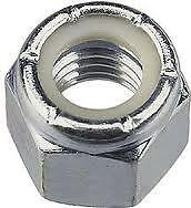 """3//4/"""" UNF NYLOC NUTS ZINC PLATED PACK OF 2"""