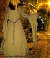Medieval Fantasy Renaissance Fantasy SCA Garb Costume Golden Sunset 1pc Gown LXL