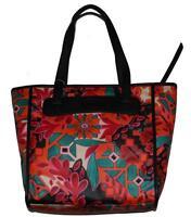 Fossil Bright Bold Floral Orange Blk Green Red Keyper Shopper Tote Msrp $98