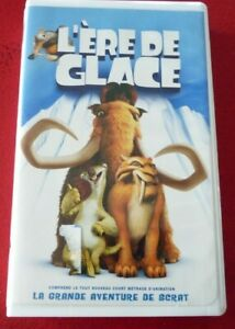 VHS-French-Movie-L-039-ere-de-Glace-Fox-Pictures