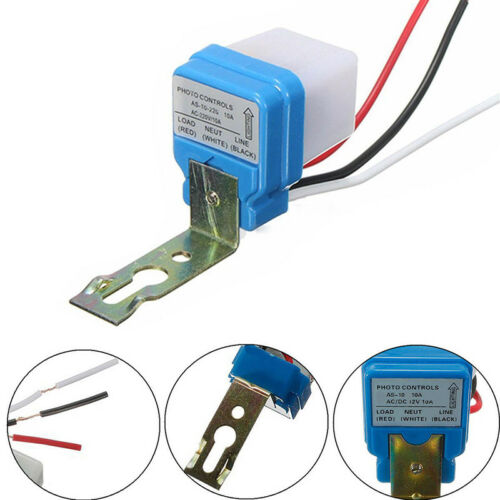 Automatic Auto Night On Day Off Street Light Switch Photo Control Sensor12V10AGN