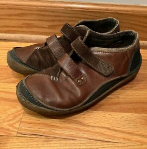 Merrell-Vienna-Saddle-Brown-Black-Leather-Loafers-Women-039-s-Size-7-5-Slip-On-Shoe