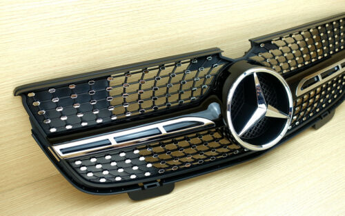 Front Grille Silver /& Gloss Black For M-BENZ X164 GL-CLASS GL320 GL350 GL450