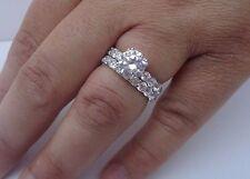 925 STERLING SILVER ETERNITY WEDDING RING & BAND W/ 5.50CT DIAMOND/SZ 5,6,7,8 9