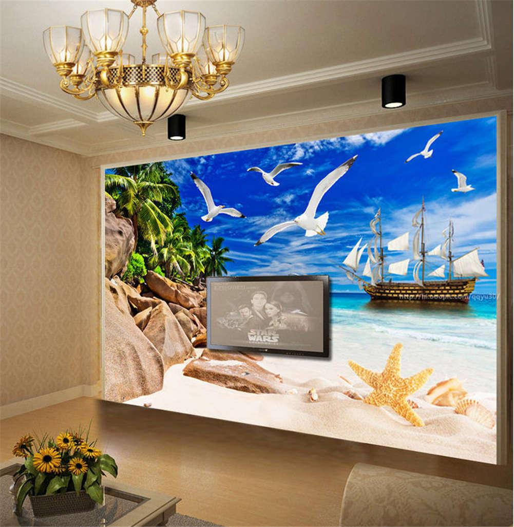 Coherent bluee Dove 3D Full Wall Mural Photo Wallpaper Printing Home Kids Decor