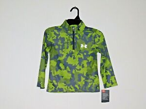 Under Armour Boys 1//4 Zip Pullover Jacket Lightweight Top Black Yellow 4 6 NWT