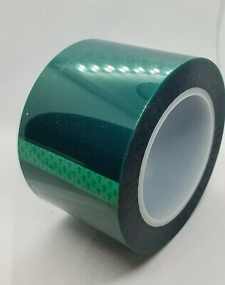 High Temperature Polyester Green Masking Tape for Powder Coat 2 inch x 72 yds