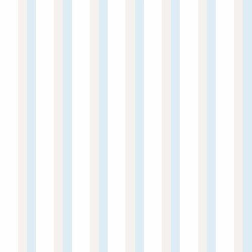 3,20€//1qm Kindertapete Papier Streifen weiß grau blau Lullaby 102311