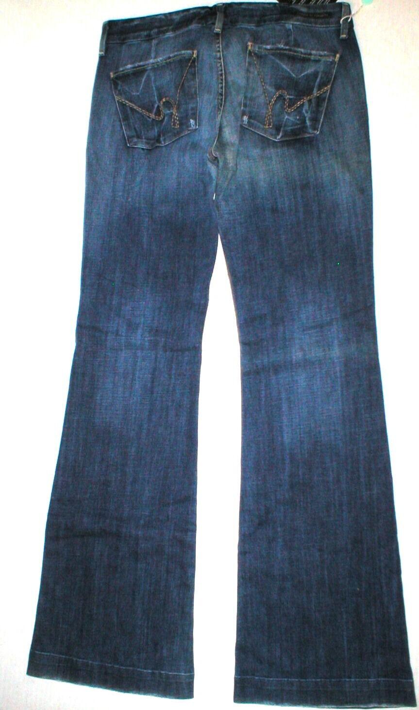 Nueva camiseta para mujer de diseñador  Citizens of Humanity Faye Jeans 31 USA de pierna ancha con aspecto envejecido  mejor precio