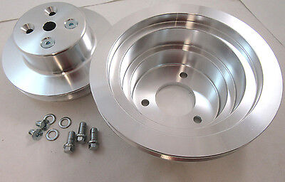 396 427 454 V-Belt Big Block Chevy Pulley Kit Long Water Pump 1 Groove