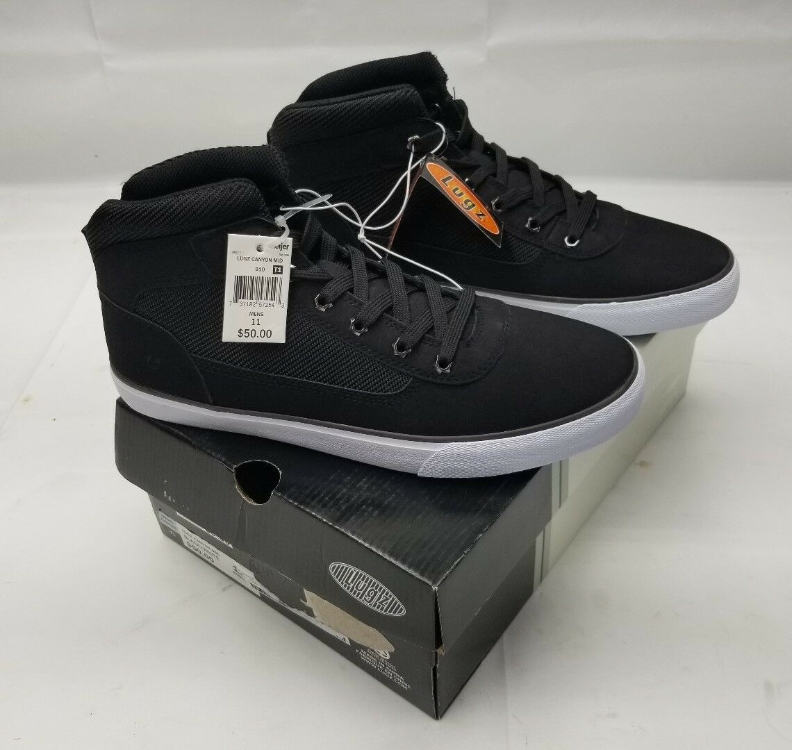 LUGZ New In Box Canyon Mid Black White Size 11 M Mens Casual