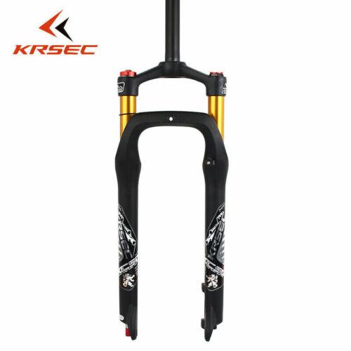 "KRSEC 26*4.0/"" Fat Bike Air Suspension Fork 120mm Snow Beach MTB Bicycle Forks"