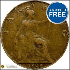 1902-a-1910-Edward-VII-farthings-Choix-de-l-039-annee-date