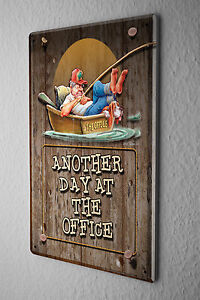Decorative Tin Sign Funny Signs Office Day Boat Fishing