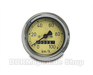 Tachometer 60mm 100km//h MZ RT125//1 125//2 125//3 IWL Berlin Pitty Wiesel Troll