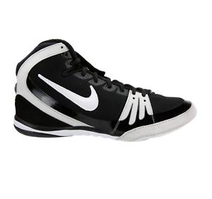 bec62d4e789 Image is loading Nike-Freek-Wrestling-Shoes-Hypersweep-Black-White-316403-