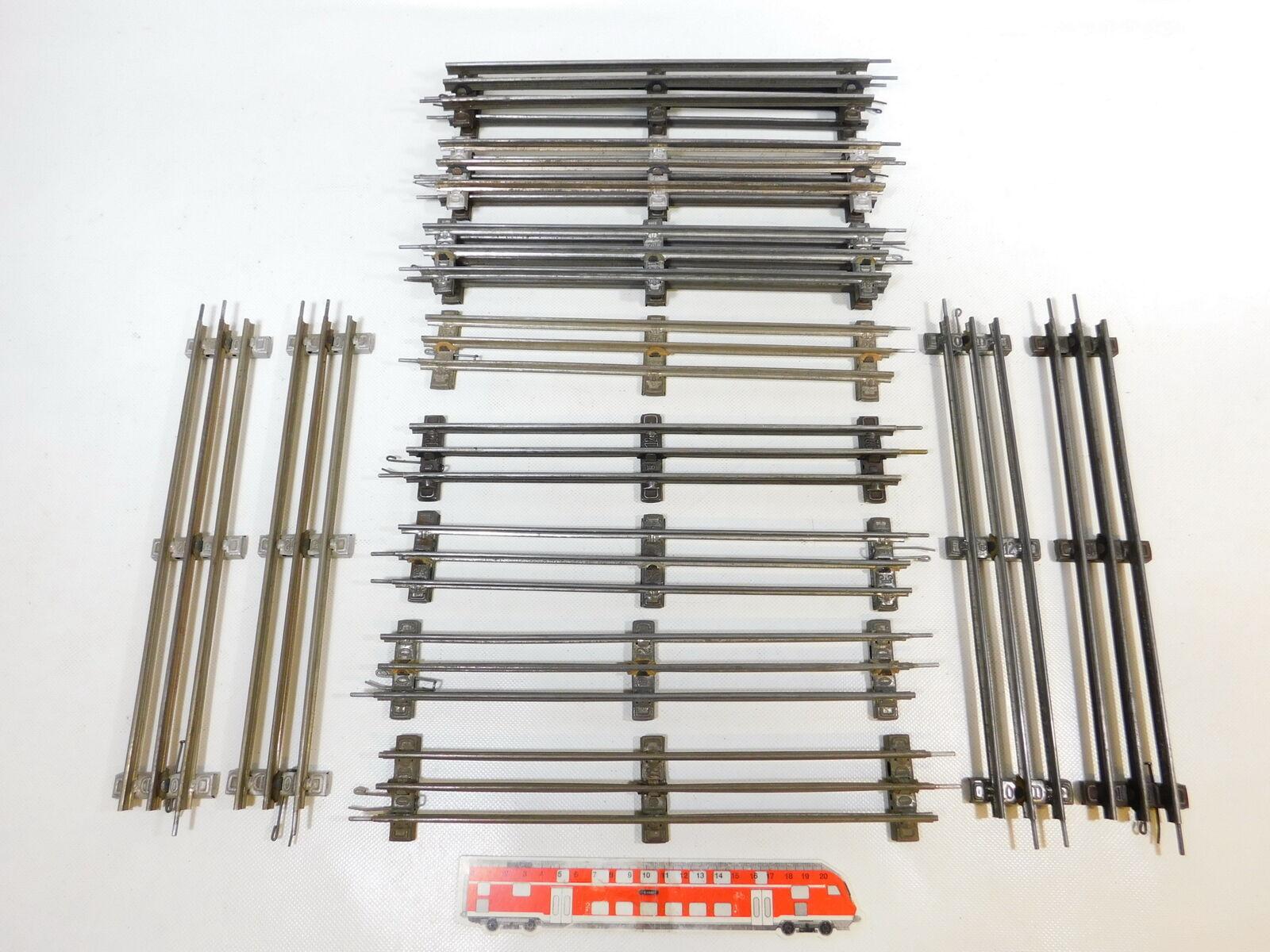 CD5752 15x marklin Scala 0 Binario Dritto 32 cm per Elettrica Operazione