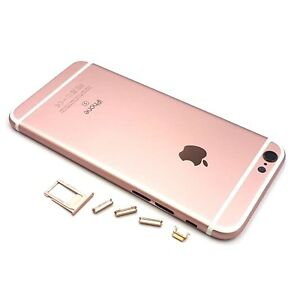 Image is loading Metal-Back-Battery-Cover-Housing-Case-for-iPhone- f25056e98713