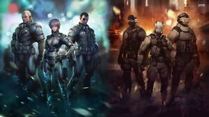 KX215 Ghost In The Shell Fight Riot Police Anime Movie Print 24x36in Silk Poster