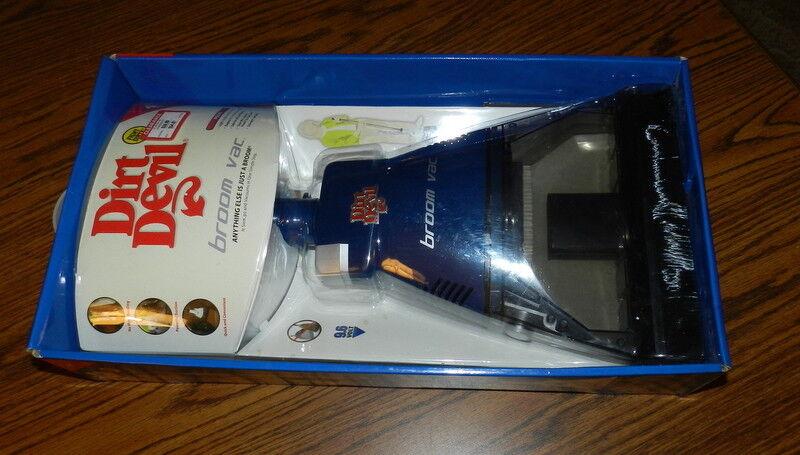 DIRT DEVIL BROOM VAC Vacuum NIB 2006 P N BV2030blueee blueeee Priority shipped