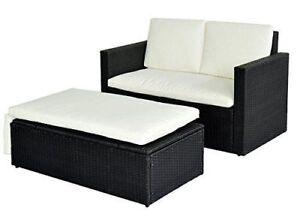 Rattan lounge schwarz  Poly Rattan Lounge Schwarz Sofa Garnitur   eBay