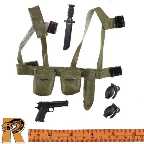 Vietnam Airborne Ranger-Ceinture Set Avec pistolet 1//6 Scale-Truie Action Figures