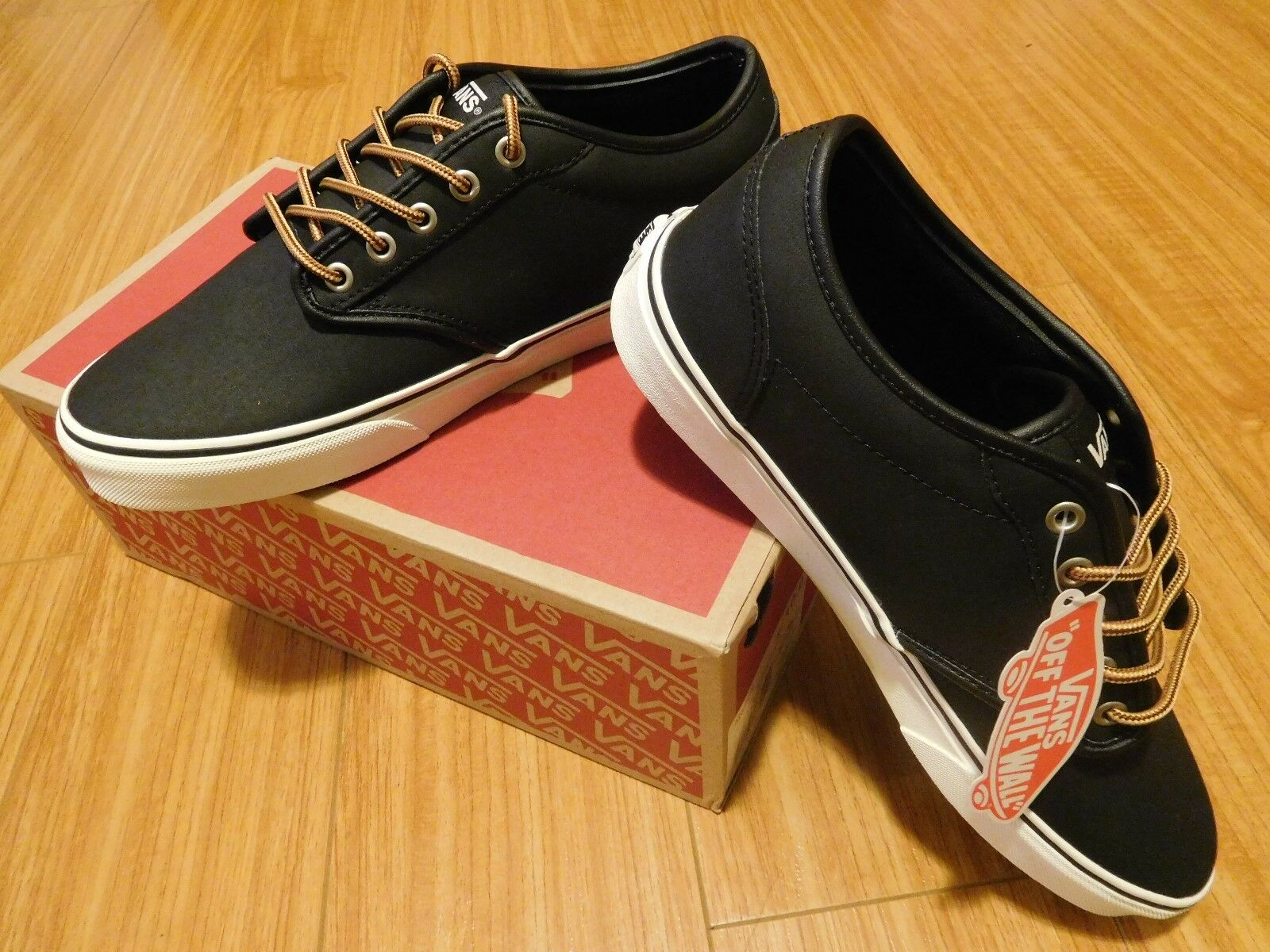 Brand New Vans Collection Atwood Black Marshmallow Size 10