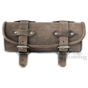 Image Is Loading Motorcycle Brown Leather Tool Roll Bag Kawasaki En