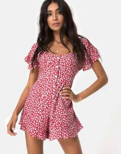 MOTEL-ROCKS-Bae-Playsuit-in-Ditsy-Rose-Red-and-Silver-XS-MR71