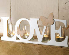 Butterfly Love 4 Tea Light Candle Holder Tealight Ornament Feature Decoration