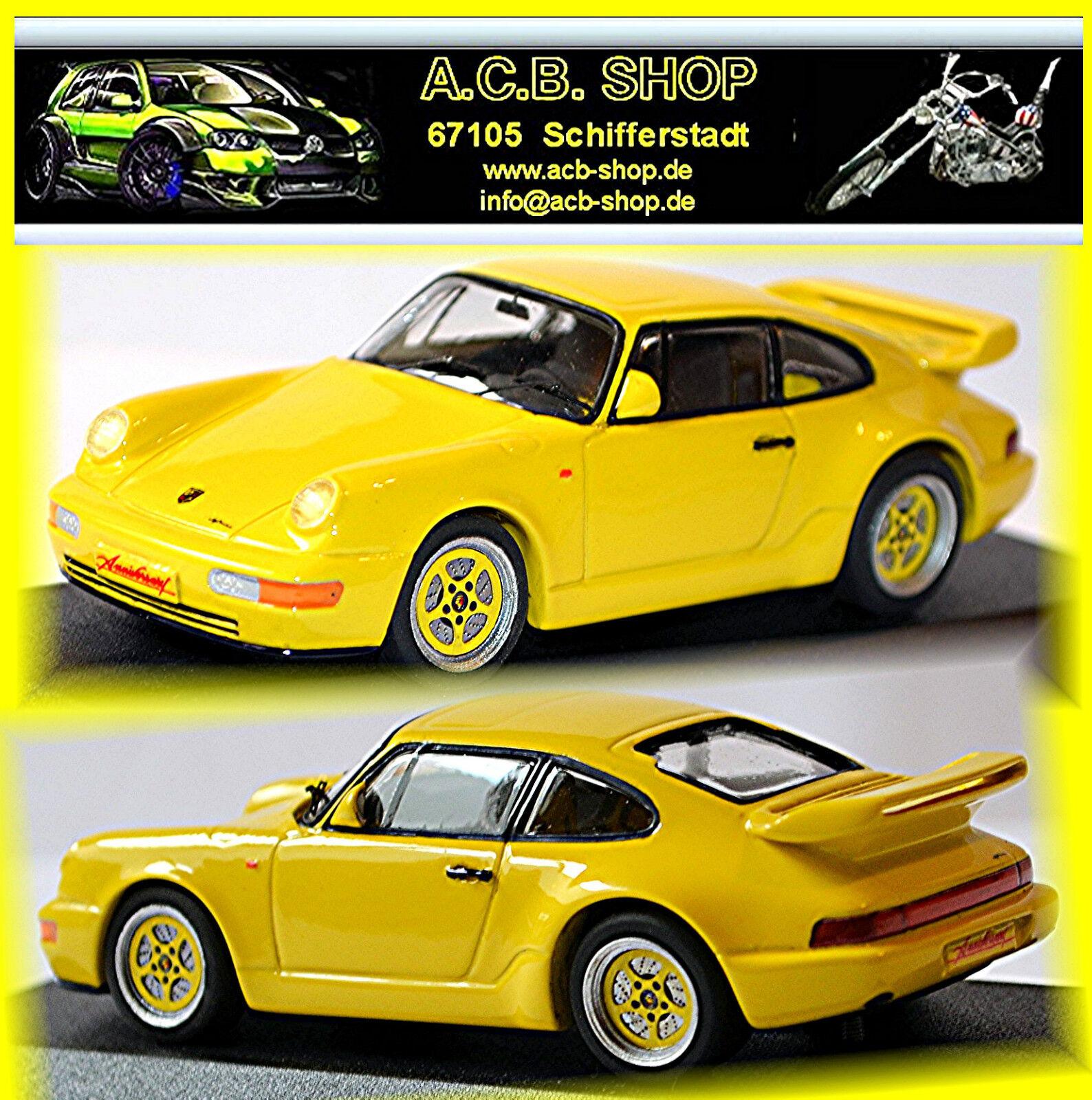 Porsche 911 Carrera 3,2 L Anniversary Typ 964 1989 speedyellow yellow 1 43 Starter