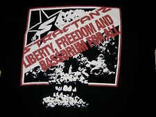 INDUSTRIAL SHIRTS.COM STRAFTANZ LIBERTY FREEDOM  MEN'S BLACK T SHIRT SIZE XL