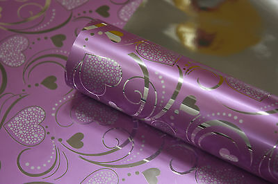[Flow heart_metallic] Wrapping paper,wraps, gift wrap, wrap rolls,53cm*20m