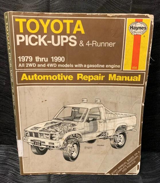 Haynes Repair Manual 656 Toyota Pickups  U0026 4runner 1979