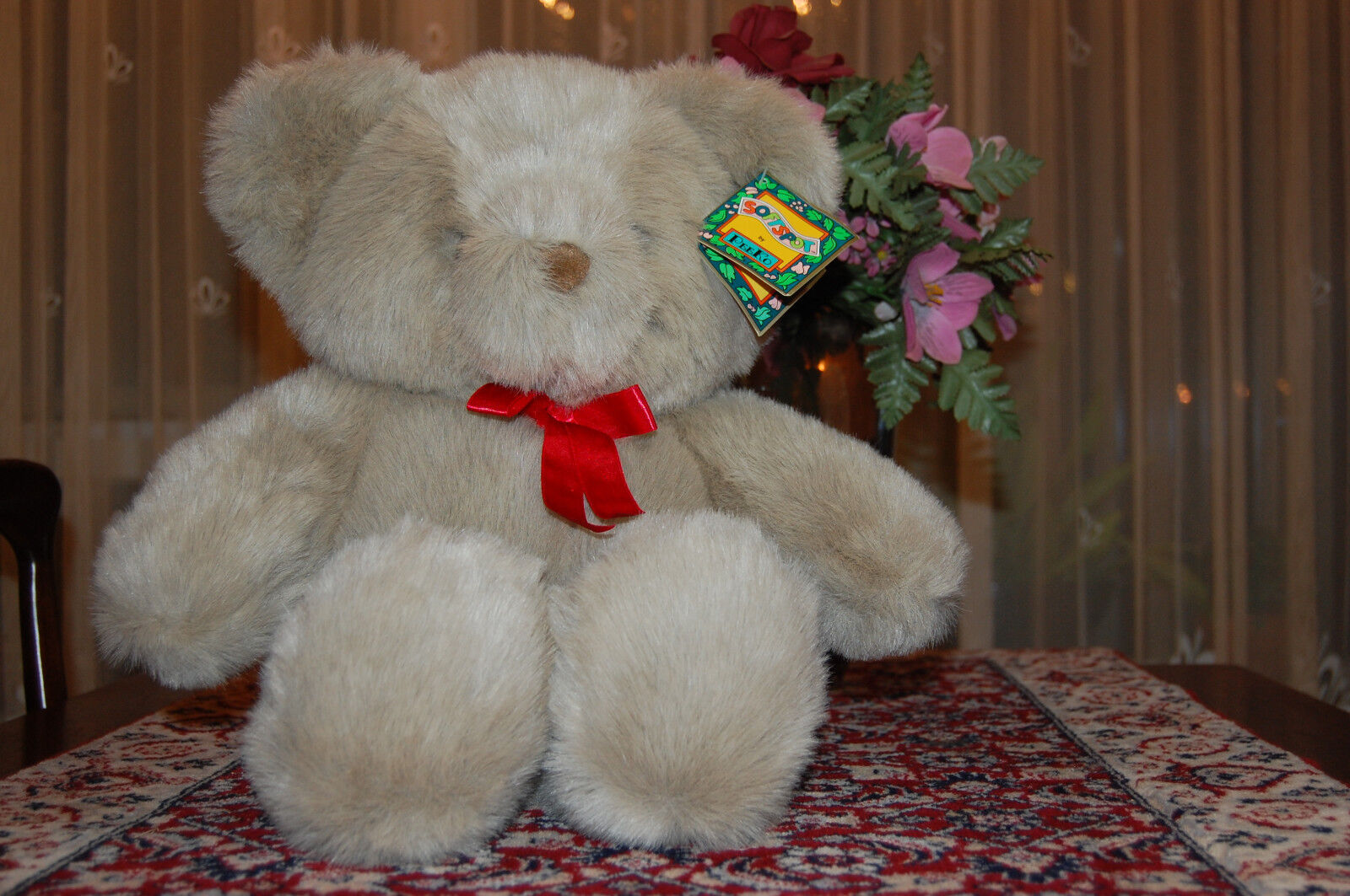 UK Isle of Man grigio Bear Soft Spot Peeko 18.5 In. 1994 with Tags Gorgeous
