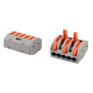 Reutilizable-Terminal-Electrico-Conectores-Cable-Bloque-Abrazadera-Paquete-de-50