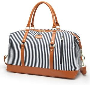 Overnight-Bag-for-Women-Canvas-Weekend-Travel-Bag-Ladies-Duffle-Tote-Bags-PU-Lea