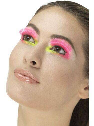 False Eyelashes Party Neon Diamante Feathers Dance Fancy Dress Glamour Gothic