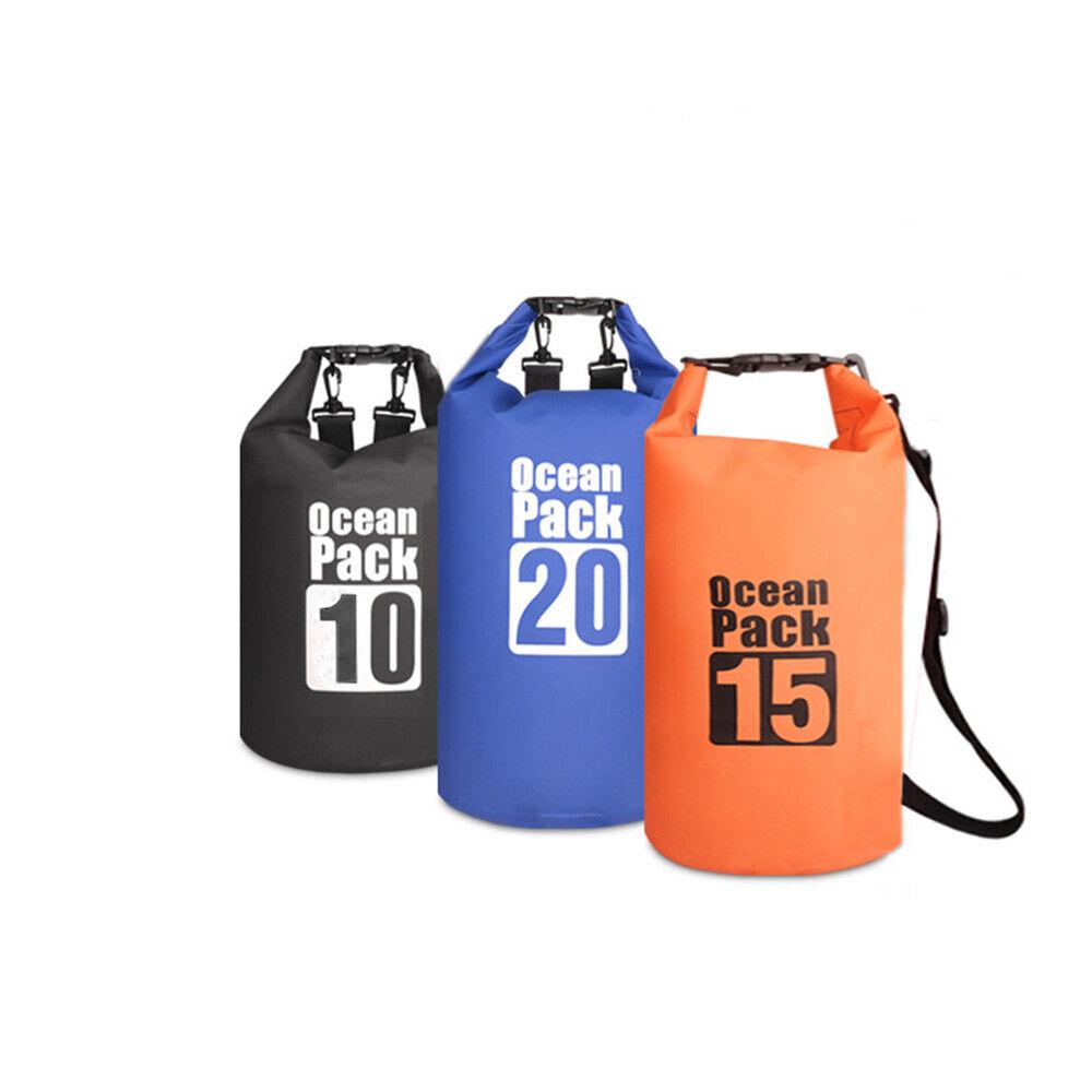 3 X Waterproof Dry Bags Sack Canoe Kayak Camping Hiking Cycling Fishing Sailing